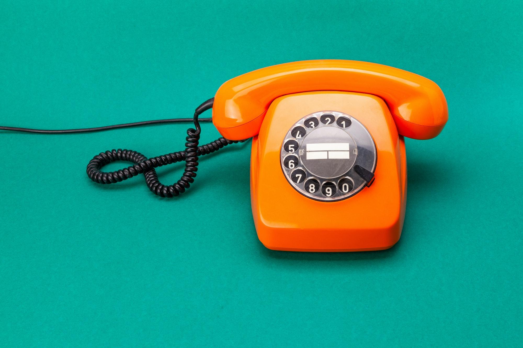 illustration téléphone pour page contact