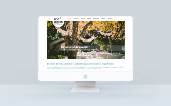 illustration page accueil site internet Loc'dunum