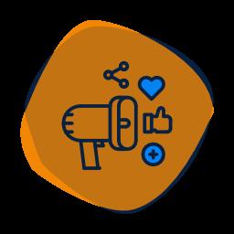 icone animation réseaux sociaux