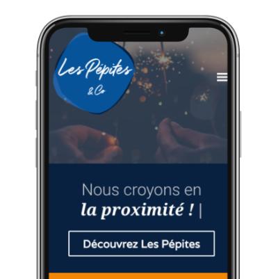 création site internet responsive design par Les Pépites and co