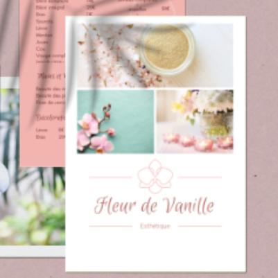 création brochure Fleur de Vanille par les Pépites and Co