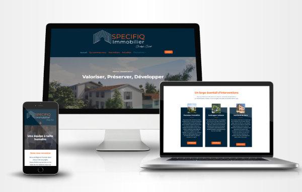 photos page accueil site internet Specifiq Immobilier