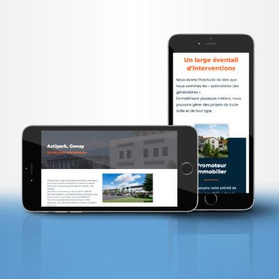 illustration site internet mobile responsive