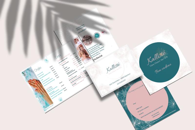 illustrations de support de communication développés pour Kallisté par les Pépites and Co