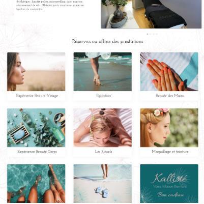 photo site internet Kallisté refonte par les Pépites and Co
