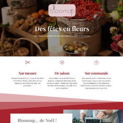 site web Bloomup création page internet