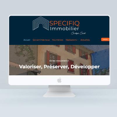 création site internet specifiqimmo par les Pépites and Co