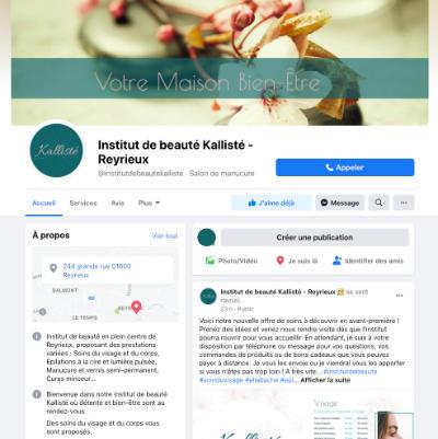 photo page Facebook Kallisté refonte par les Pépites and Co