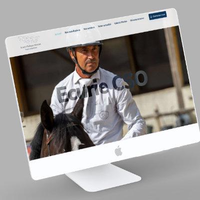 visuel page accueil site internet ecurie